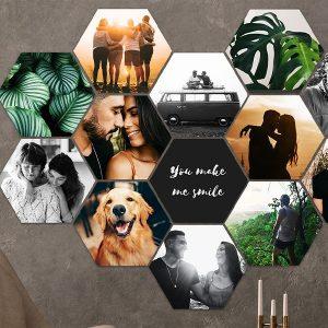 Jouw foto's op een MuchoPix Hexagon (4 stuks 17 x 15 cm)