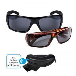 Polaris Zonnebrillenset - Zwart & Tortoise - Incl. brillenkoker en poetsdoekje