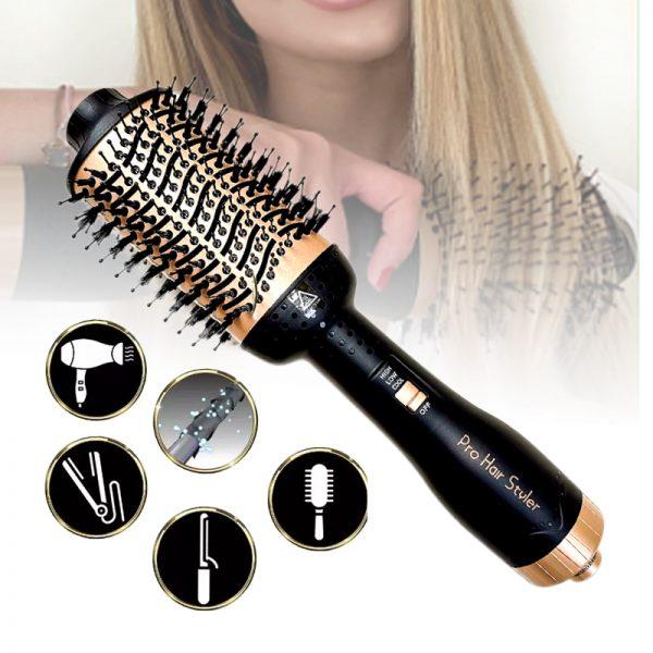 Pro Hair Styler 5-in-1 - Föhn, krultang, stijlborstel, volumizer en ionisator