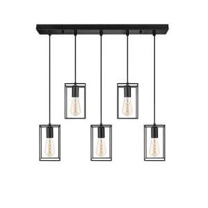 Zwart metalen hanglamp