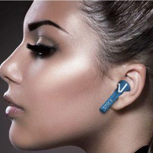 Blauwe draadloze oordopjes van Veho