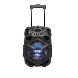 Trolley-speaker met microfoon